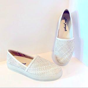 FREE PEOPLE $98 Santorini Slip On Sneakers White